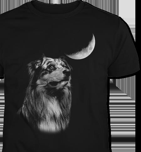 Australian Shepherd Moon