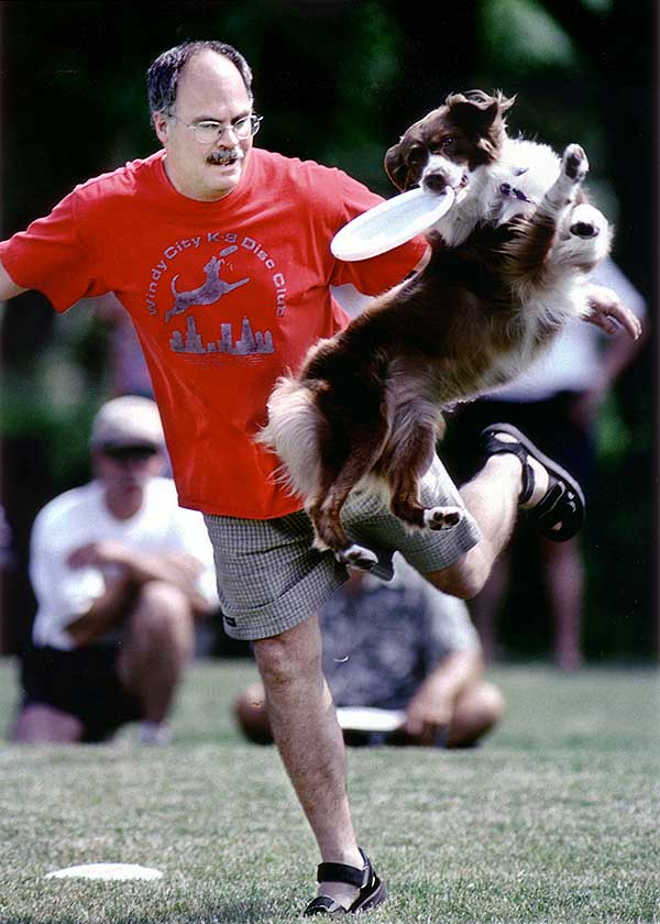 Frisbee Dog Nellie with Paul Silberhorn