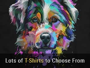 Lots of Australian Shepherd T-Shirts to Choose From