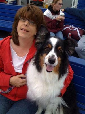 Mom and Beau on the Long Island Ferry. I used this image to work from when I did the painting.