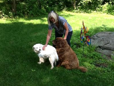 Jett with his grandma and his sister Polar
