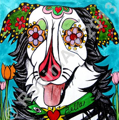 Bella the Australian Shepherd, Copyright RobiniArt 2013
